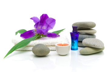 Still life of items for the spa treatments