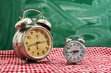 Clock at table