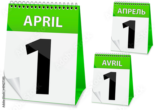 icon calendar for April 1