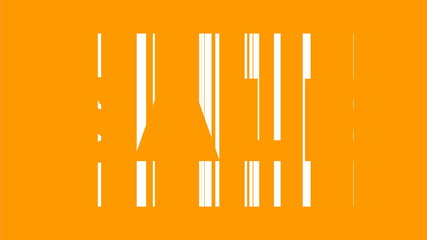 Sale text against bar code background orange and black