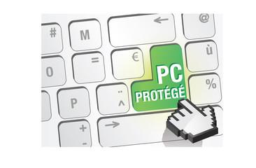 touche de clavier - PC protégé
