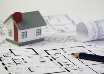 Grundriss mit Haus