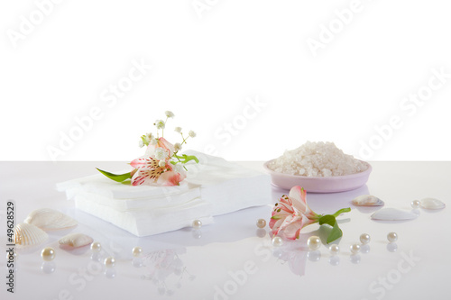 white napkins isolated