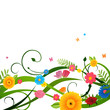 Vector Illustration of a Colorful Floral Background