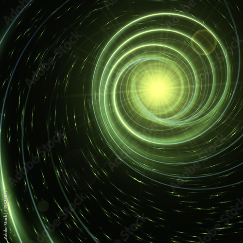 star with green spirals