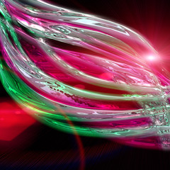 futuristic wave background design with lights