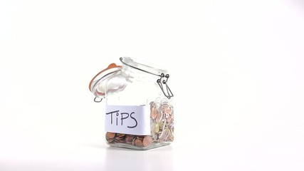 Jar with tips