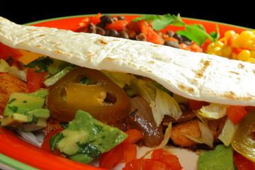 Chicken Fajita Mexican Dinner