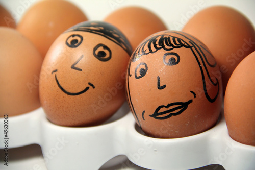 A Cute Egg Couple