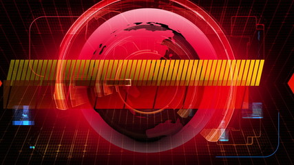 Global News Media Technology Graphic Animation Background