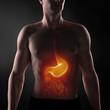 Focused on man stomach