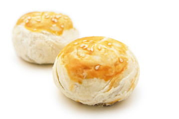 two golden buns wih clipping path