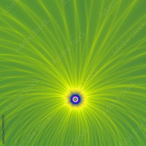 Żółty Zielony wybuchu kolor na
