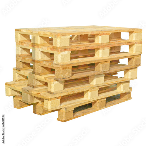 Pallets isolated