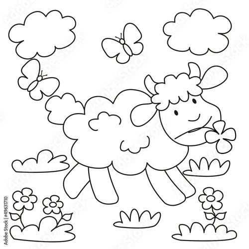 画动物卡图国家基层夏天娱乐婴儿彩色快乐的插图春天
