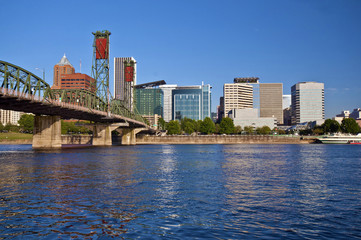 The Portland skyline from East Waterfront