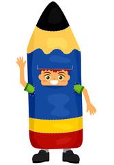 Kid Pencil Mascot