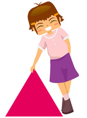 Kid Holding Triangle Shape