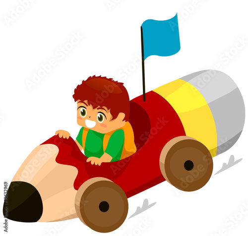 Kid Pencil Car