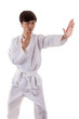 Asian kungfu fighter man