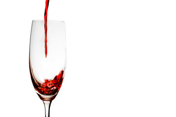 A glass of red
