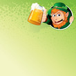 Cartoon Leprechaun with Mug of Ale. Vector Image