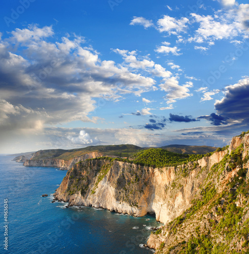 Amazing coast in Zakynthos island, Greece