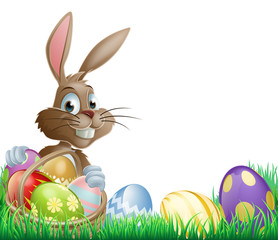 Isolated Easter footer design