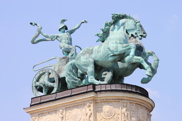 Allegorical statue of War in Budapest, Hungary