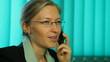 Happy business woman, callphone, mobilephone
