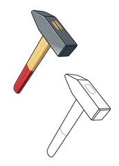 Hammer. Working tool. vector illustration isolated on white