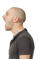 profile, man on white background