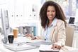 Portrait of beautiful smiling office worker