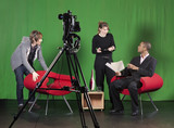 Setting up for a TV Recording poster