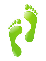 Green foot steps
