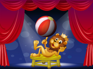 A lion king performing on stage