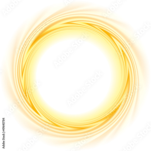 Vector abstract background. Frame of the burning ball spinning