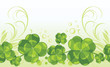 Clover leaves. Decorative seamless background