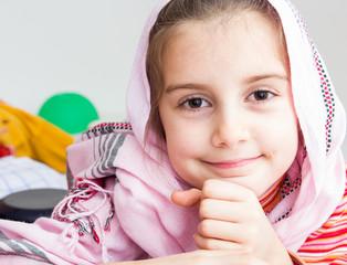Little muslim girl