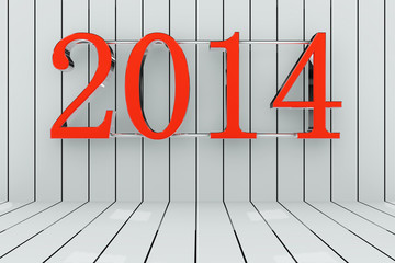 New year 2014 - 3d render