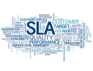 """SLA"" Tag Cloud (service level agreement business performance)"