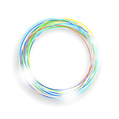 Coloured circle frame
