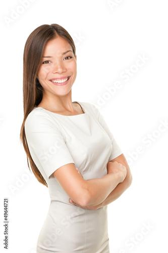 Asian woman portrait smiling happy
