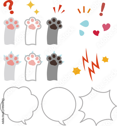 猫の手と感情のアイコン