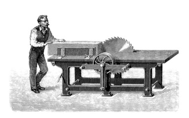 Worker : Circular Saw - Scie circulaire - 19th century