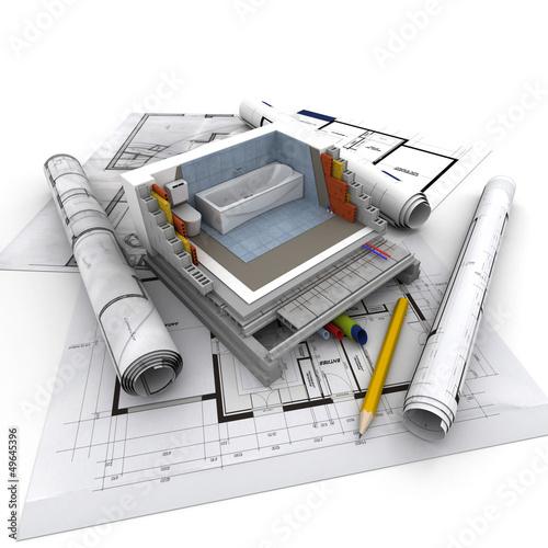 Architecture technical, toilet