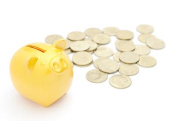 豚の貯金箱 500円