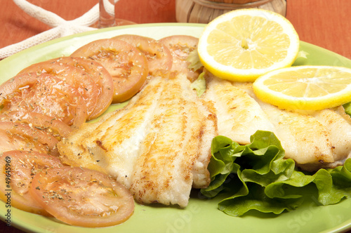 plaice fillets roasted