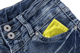 Condom in a jeans pocket
