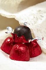 Chocolate praline sweet food